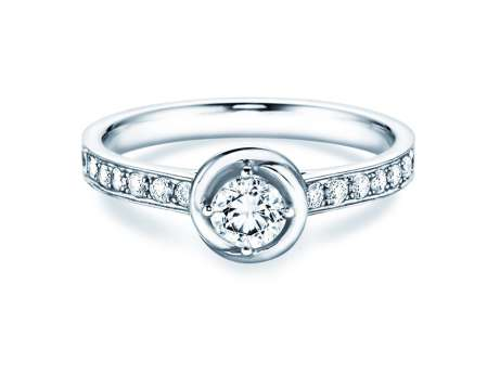 Verlobungsring Dawn<br />18K Weißgold<br />Diamant 0,70ct