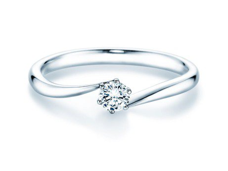 Verlobungsring Devotion in Platin mit Diamant 0,20ct