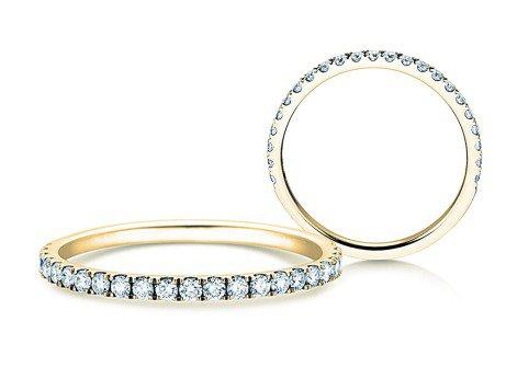 Verlobungsring Dusk<br />14K Gelbgold<br />Diamanten 0,35ct