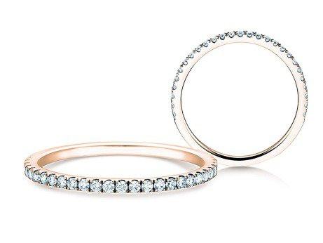 Verlobungsring Dusk in 14K Roségold mit Diamanten 0,25ct