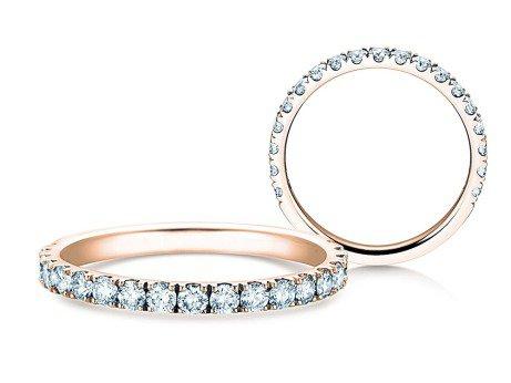 Verlobungsring Dusk<br />14K Roségold<br />Diamanten 0,55ct
