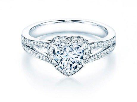 Verlobungsring Flame<br />18K Weißgold<br />Diamant 1,54ct