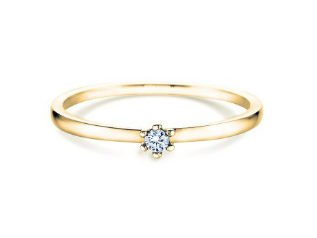 Verlobungsring Classic Petite<br />14K Gelbgold<br />Diamant 0,09ct