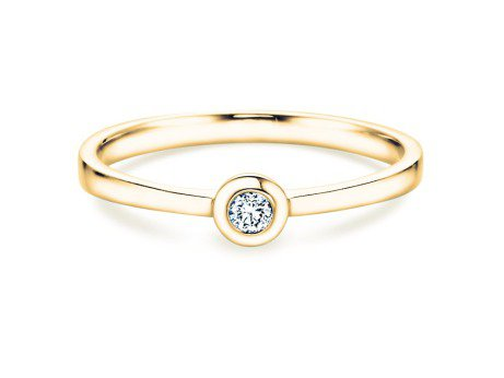 Solitärring Eternal Petite<br />14K Gelbgold<br />Diamant 0,05ct