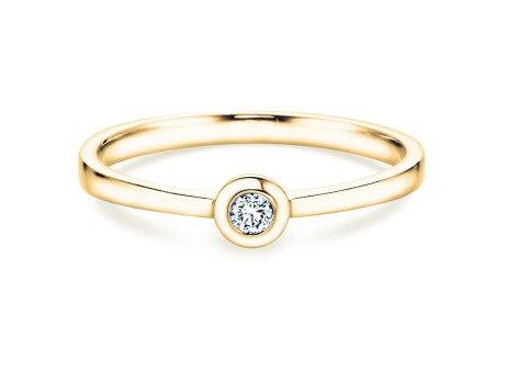 Solitärring Eternal Petite in 18K Gelbgold mit Diamant 0,05ct