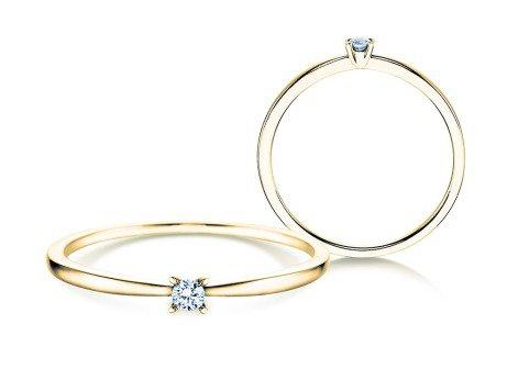 Verlobungsring Modern Petite<br />14K Gelbgold<br />Diamant 0,05ct
