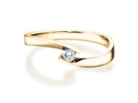 Verlobungsring Twist Petite<br />14K Gelbgold<br />Diamant 0,13ct