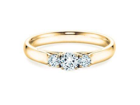 Verlobungsring 3 Stones<br />18K Gelbgold<br />Diamant 0,75ct