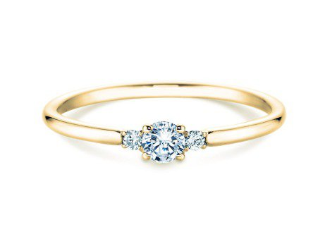 Verlobungsring Glory Petite<br />18K Gelbgold<br />Diamanten 0,10ct