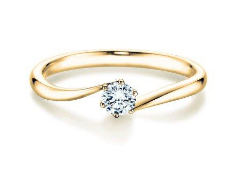 Verlobungsring Devotion<br />14K Gelbgold<br />Diamant 0,25ct