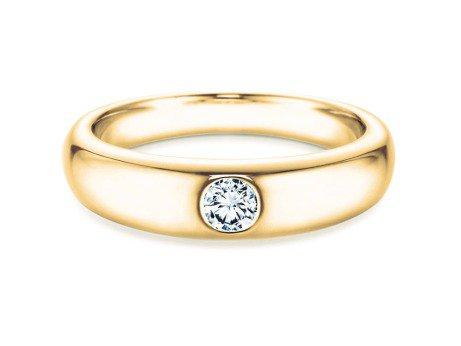 Verlobungsring Promise in 14K Gelbgold mit Diamant 0,25ct