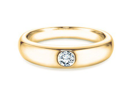 Verlobungsring Promise<br />14K Gelbgold<br />Diamant 0,10ct