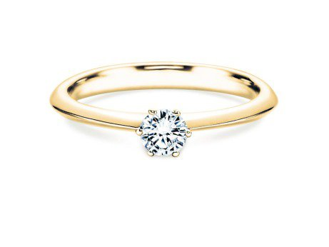 Solitärring The One<br />18K Gelbgold<br />Diamant 0,25ct