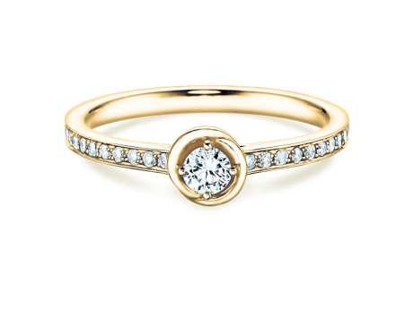 Verlobungsring Dawn<br />18K Gelbgold<br />Diamant 0,35ct