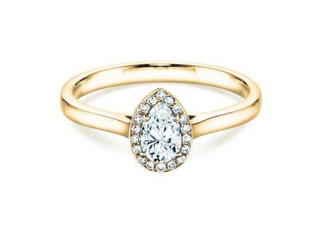 Verlobungsring Pear Shape<br />14K Gelbgold<br />Diamant 0,50ct