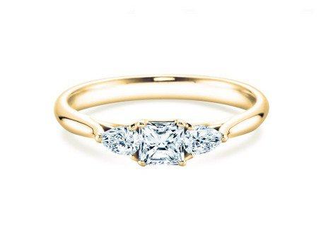 Verlobungsring Glory Asscher in 18K Gelbgold mit Diamanten 0,53ct