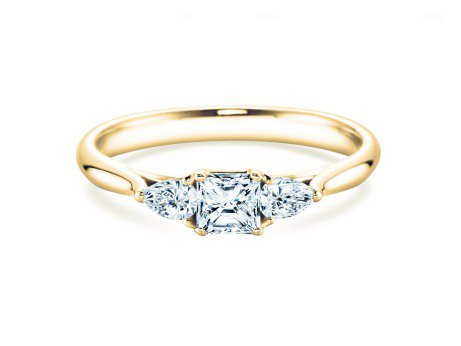 Verlobungsring Glory Asscher<br />18K Gelbgold<br />Diamanten 0,53ct