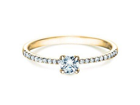 Verlobungsring Grace Petite in 18K Gelbgold mit Diamant 0,43ct