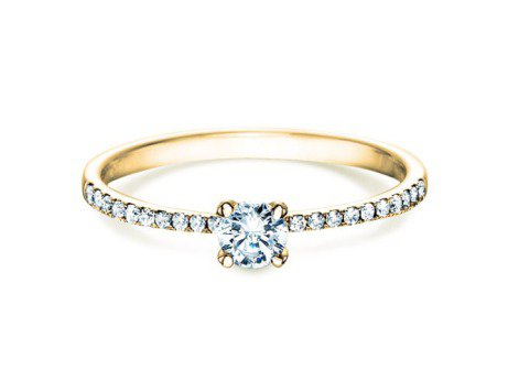 Verlobungsring Grace Petite<br />18K Gelbgold<br />Diamant 0,43ct