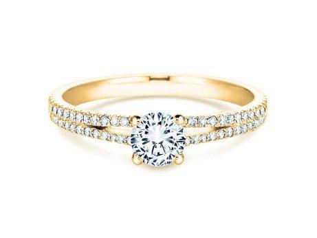 Verlobungsring Dynasty Petite<br />18K Gelbgold<br />Diamant 0,85ct