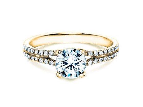 Verlobungsring Dynasty<br />18K Gelbgold<br />Diamant 1,27ct