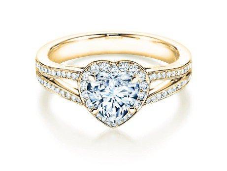 Verlobungsring Flame<br />18K Gelbgold<br />Diamant 1,54ct