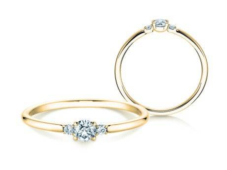 Verlobungsring Glory Petite<br />18K Gelbgold<br />Diamanten 0,20ct