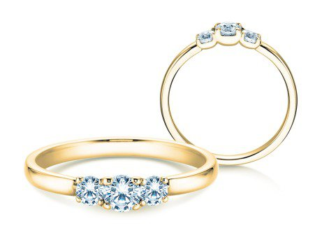 Verlobungsring Glory Petite<br />18K Gelbgold<br />Diamanten 0,40ct