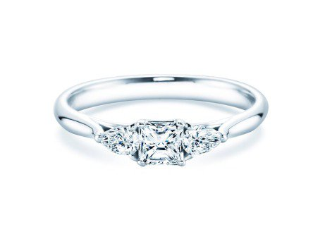 Verlobungsring Glory Princess<br />14K Weißgold<br />Diamanten 0,53ct