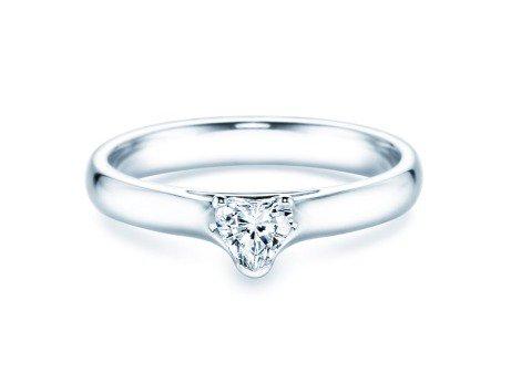 Verlobungsring Heart in 18K Weißgold mit Diamant 0,25ct