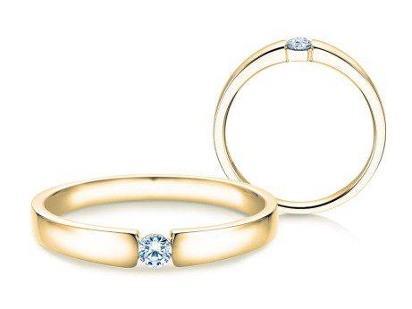 Verlobungsring Infinity Petite<br />14K Gelbgold<br />Diamant 0,09ct