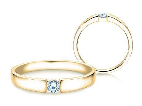 Verlobungsring Infinity Petite<br />14K Gelbgold<br />Diamant 0,13ct