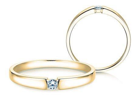 Verlobungsring Infinity Petite<br />14K Gelbgold<br />Diamant 0,06ct