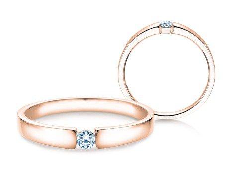 Verlobungsring Infinity Petite<br />14K Roségold<br />Diamant 0,09ct