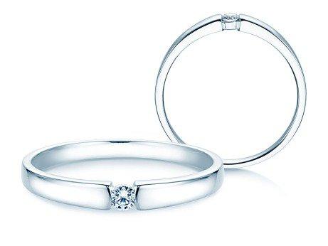 Verlobungsring Infinity Petite<br />14K Weißgold<br />Diamant 0,06ct