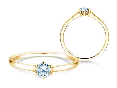 Verlobungsring Madison<br />18k Gelbgold<br />Diamant 0,20ct