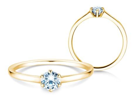 Verlobungsring Madison<br />18k Gelbgold<br />Diamant 0,25ct