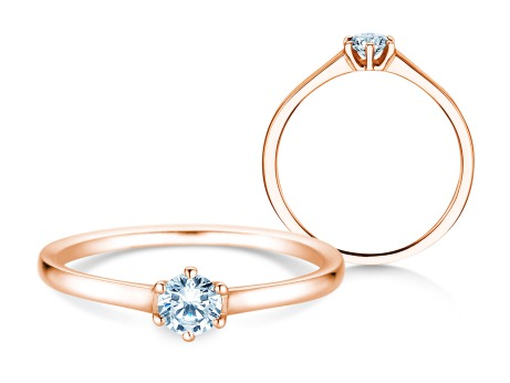 Verlobungsring Madison<br />14k Roségold<br />Diamant 0,20ct