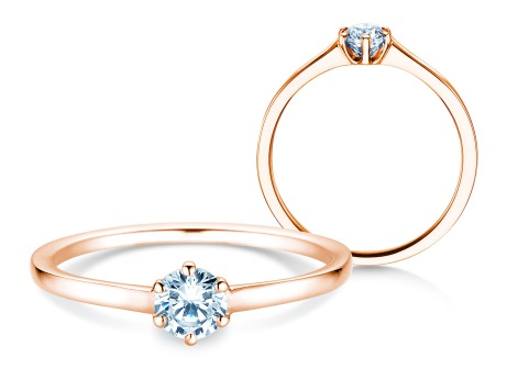 Verlobungsring Madison<br />18k Roségold<br />Diamant 0,25ct