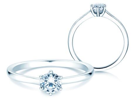 Verlobungsring Madison<br />18k Weißgold<br />Diamant 0,40ct