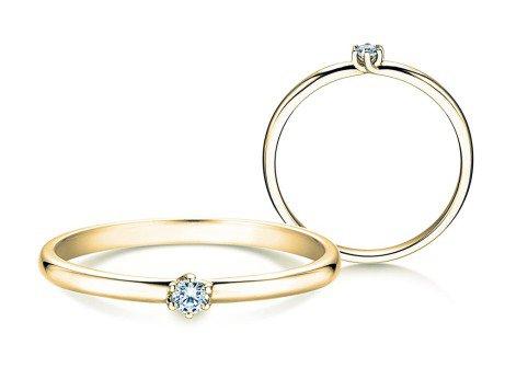 Verlobungsring Melody<br />18K Gelbgold<br />Diamant 0,05ct