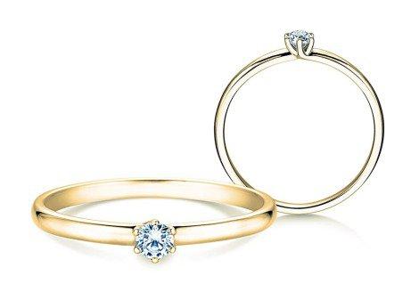 Verlobungsring Melody<br />14K Gelbgold<br />Diamant 0,10ct