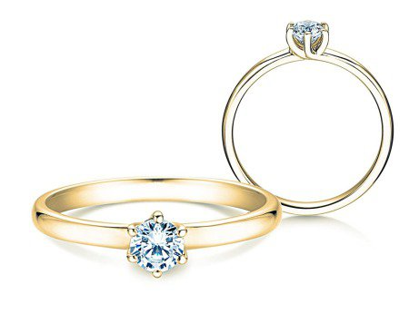 Verlobungsring Melody<br />14K Gelbgold<br />Diamant 0,40ct