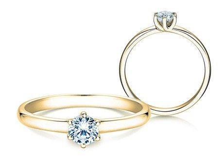 Verlobungsring Melody<br />14K Gelbgold<br />Diamant 0,50ct