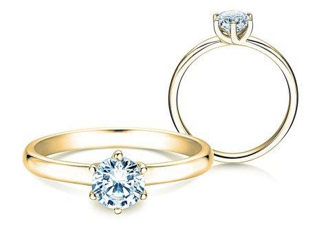Verlobungsring Melody<br />18K Gelbgold<br />Diamant 0,75ct