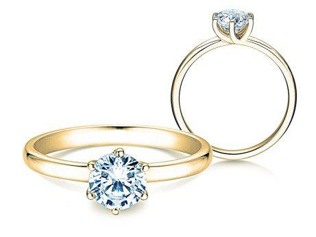 Verlobungsring Melody<br />14K Gelbgold<br />Diamant 1,00ct