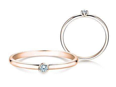 Verlobungsring Melody<br />14K Roségold<br />Diamant 0,05ct
