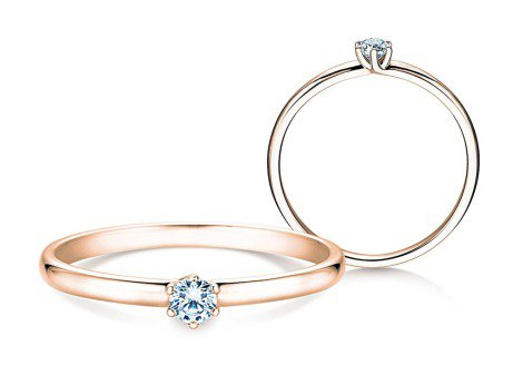 Verlobungsring Melody<br />18K Roségold<br />Diamant 0,10ct