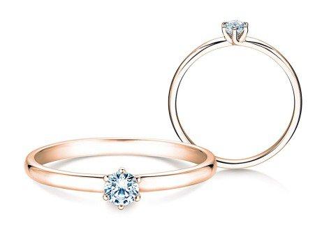 Verlobungsring Melody<br />14K Roségold<br />Diamant 0,15ct