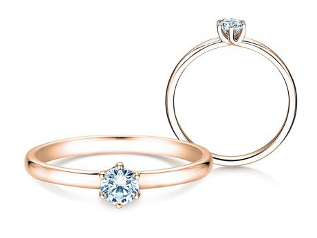 Verlobungsring Melody<br />14K Roségold<br />Diamant 0,25ct